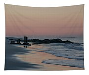 Morning On The Beach At Cape May Tapestry