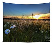 Morning On The Grasslands Tapestry