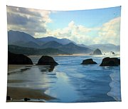 Morning On The Oregon Coast Tapestry
