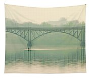 Morning On The Schuylkill River - Strawberry Mansion Bridge Tapestry