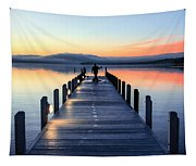 Morning Pier Tapestry