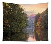 Morning River View  Tapestry