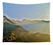 Morning Shadows In The Himalayas Tapestry