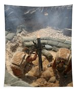 Mortar Crew In Action Tapestry