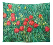 Mostly Tulips Tapestry