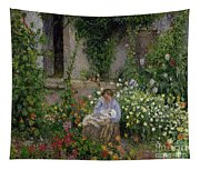 Mother And Child In The Flowers Tapestry