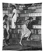Mother Ganges - Paint Bw Tapestry