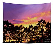 Mother Of Pearl Behind Tree Lace Tapestry