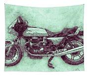 Moto Guzzi Le Mans 3 - Sports Bike - 1976 - Motorcycle Poster - Automotive Art Tapestry