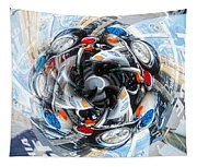 Motorcycle Mixup Tapestry