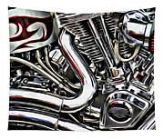 Motorcycle Reds Tapestry