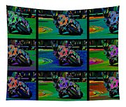 Motorcycle Road Race Tapestry