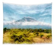 Mount Agung On The Island Paradise Of Bali Tapestry