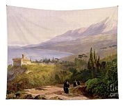 Mount Athos And The Monastery Of Stavroniketes Tapestry