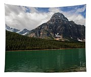 Mount Chephren From Waterfowl Lake - Banff National Park Tapestry