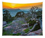 Mount Scott Sunset Tapestry