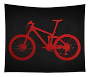 Mountain Bike - Red On Black Tapestry
