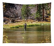 Mountain Fisherman Tapestry