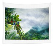 Mountain High - St. Lucia Parrots Tapestry