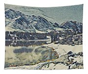 Mountain Lake, California Tapestry