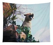 Mountain Lion - Paint Effect Tapestry