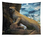 Mountain Lion - Paint Fx Tapestry