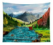 Mountain Stream Tapestry