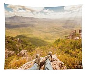Mountain Valley Landscape Tapestry