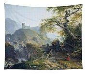 Mountainous Landscape Near Duesseldorf Tapestry