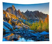 Mountainous Paradise Tapestry