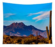 Mountains And Cactus Tapestry