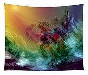 Mountains Crumble To The Sea Tapestry