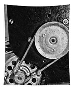 Movie Projector Gears In Black And White Tapestry