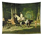 Mr And Mrs A Mosselman And Their Two Daughters Tapestry
