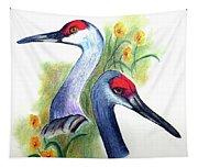 Mr And Mrs Sandhill Cranes Tapestry