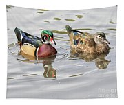 Mr. And Mrs. Wood Duck Tapestry