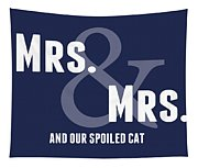 Mrs And Mrs And Cat- Blue Tapestry