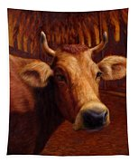 Mrs. O'leary's Cow Tapestry by James W Johnson