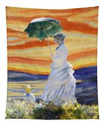 Ms Monet And Red Skies Tapestry