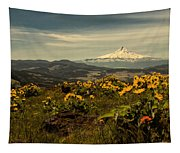 Mt. Hood And Wildflowers Tapestry