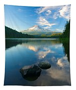 Mt. Hood Cirrus Explosion Tapestry