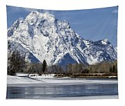 Mt Moran From Oxbow Bend Tapestry