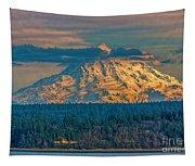 Mt Rainier Sunset Tapestry