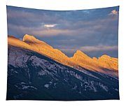 Mt Rundle Sunset Banff Tapestry