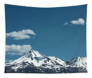 Mt Shasta With Heart-shaped Cloud Tapestry