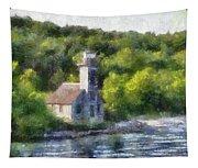 Munising Grand Island Lighthouse Upper Peninsula Michigan Pa 01 Tapestry