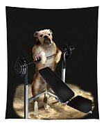 Muscle Boy Boxer Lifting Weights Tapestry