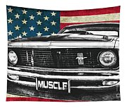 Muscle Us Mustang Tapestry