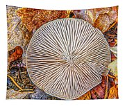 Mushroom On Fall Floor Tapestry