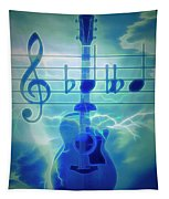 Music Is Everything Lightning Tapestry